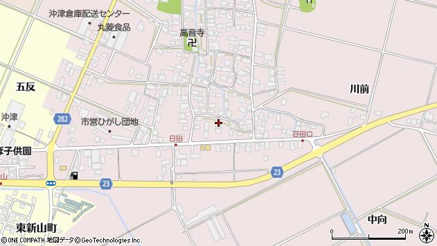 山形県寒河江市日田560周辺の地図