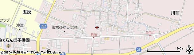 山形県寒河江市日田五反52周辺の地図