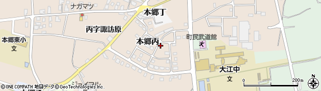 山形県西村山郡大江町本郷丙周辺の地図