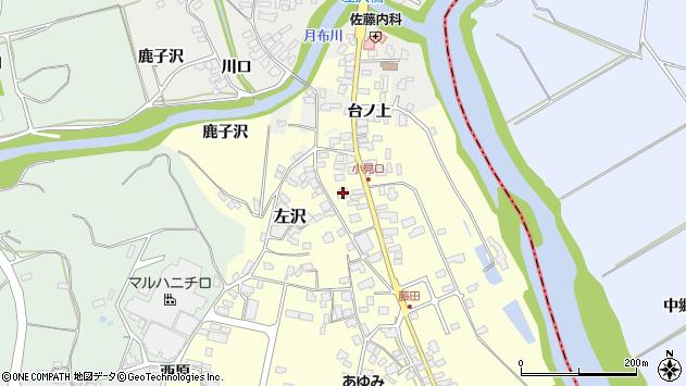 山形県西村山郡大江町藤田40周辺の地図