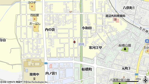 山形県寒河江市寒河江小和田56周辺の地図