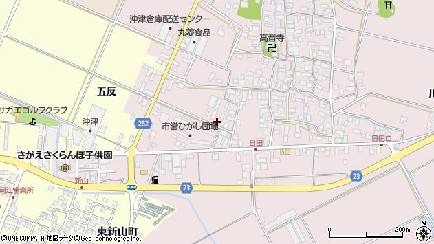 山形県寒河江市日田五反周辺の地図