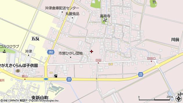 山形県寒河江市日田五反57周辺の地図