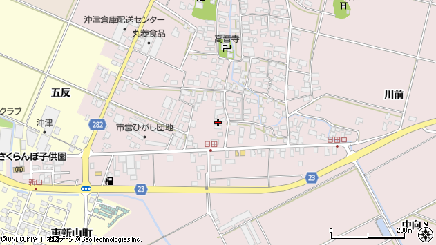 山形県寒河江市日田五反50周辺の地図