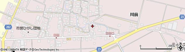 山形県寒河江市日田568周辺の地図