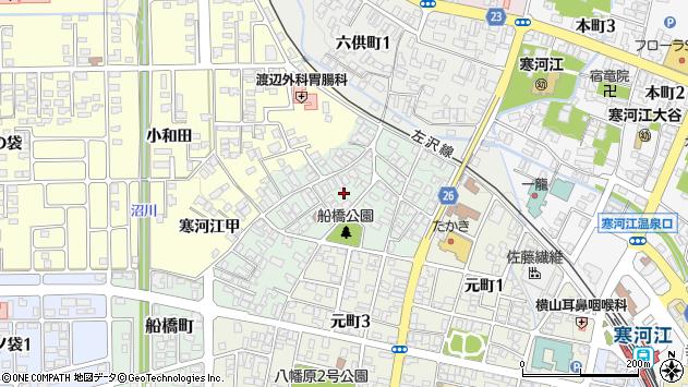 山形県寒河江市船橋町11周辺の地図