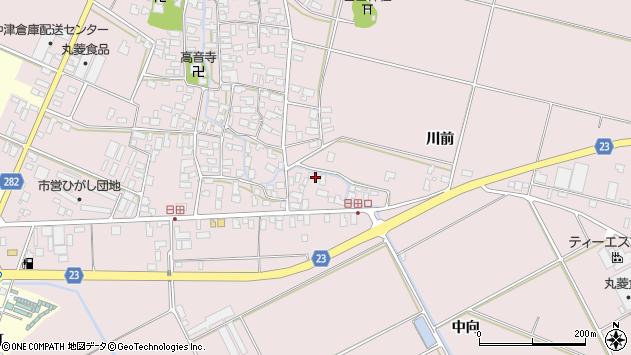 山形県寒河江市日田573周辺の地図