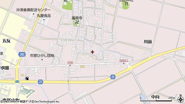 山形県寒河江市日田405周辺の地図