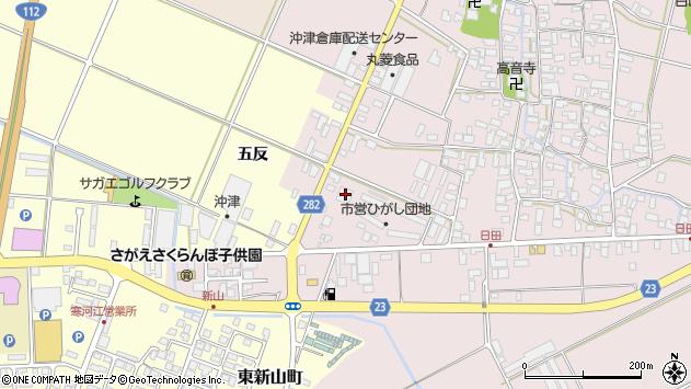 山形県寒河江市日田五反76周辺の地図