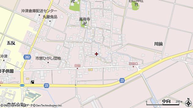 山形県寒河江市日田553周辺の地図