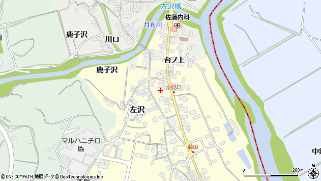 山形県西村山郡大江町藤田42周辺の地図
