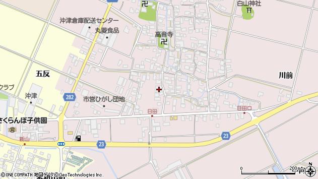 山形県寒河江市日田五反49周辺の地図