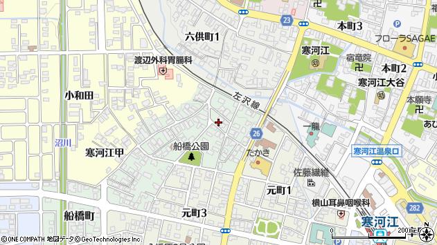 山形県寒河江市船橋町12周辺の地図