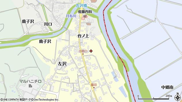 山形県西村山郡大江町藤田41周辺の地図