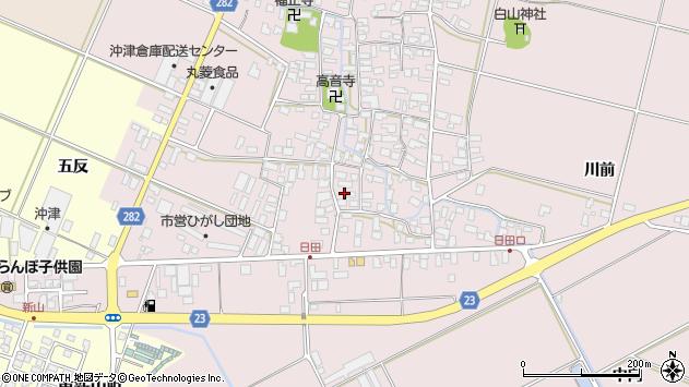 山形県寒河江市日田545周辺の地図
