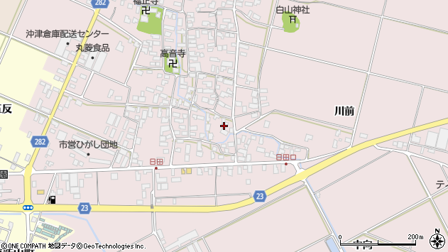 山形県寒河江市日田410周辺の地図