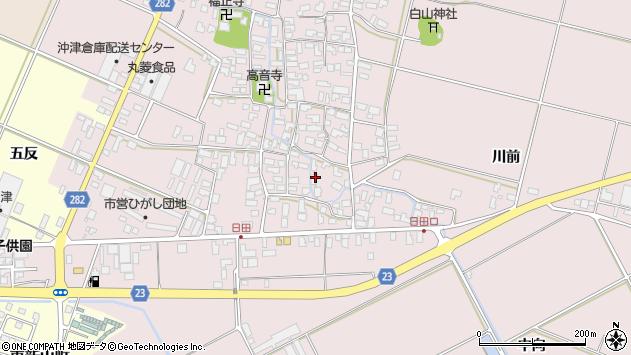 山形県寒河江市日田404周辺の地図