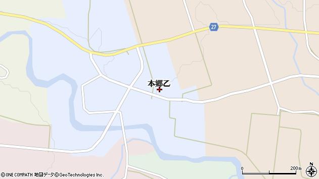 山形県西村山郡大江町本郷乙105周辺の地図