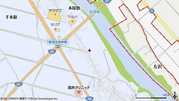 山形県寒河江市中郷1352周辺の地図