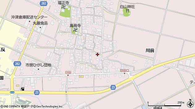 山形県寒河江市日田409周辺の地図