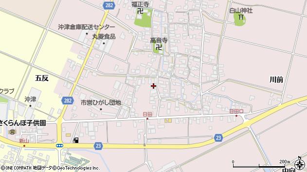 山形県寒河江市日田五反47周辺の地図