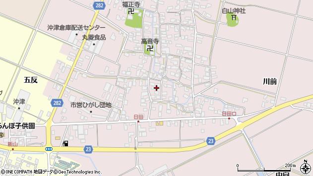山形県寒河江市日田544周辺の地図