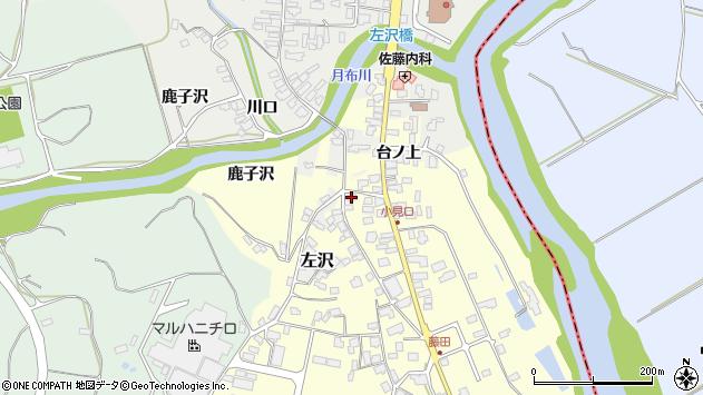 山形県西村山郡大江町藤田39周辺の地図