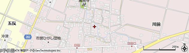 山形県寒河江市日田549周辺の地図