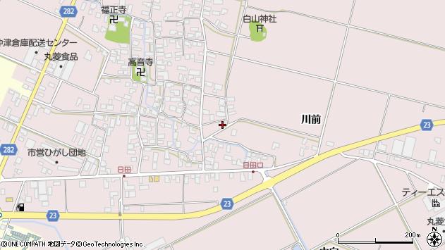 山形県寒河江市日田楯越404周辺の地図