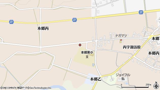 山形県西村山郡大江町本郷丙261周辺の地図