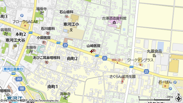 山形県寒河江市丸内1丁目周辺の地図