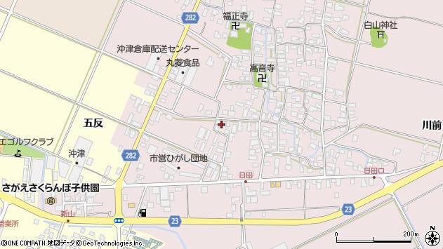 山形県寒河江市日田五反33周辺の地図