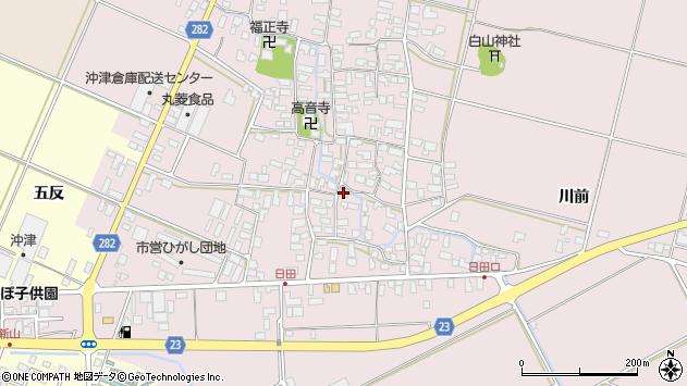 山形県寒河江市日田548周辺の地図