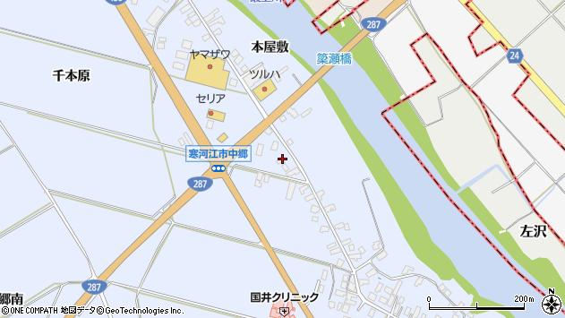 山形県寒河江市中郷1448周辺の地図