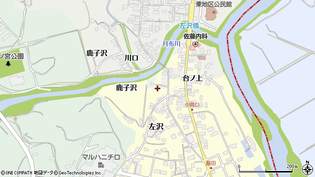 山形県西村山郡大江町藤田大道上周辺の地図