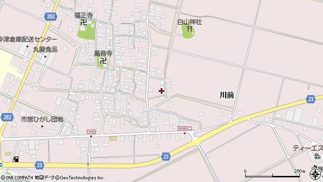 山形県寒河江市日田楯越412周辺の地図