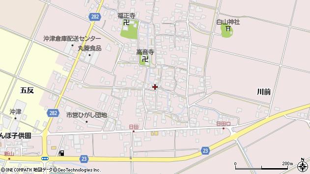 山形県寒河江市日田542周辺の地図