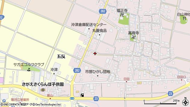 山形県寒河江市日田五反13周辺の地図