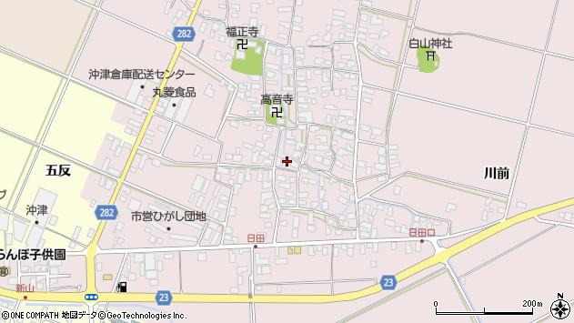 山形県寒河江市日田541周辺の地図