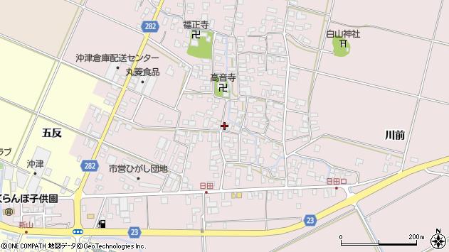 山形県寒河江市日田540周辺の地図