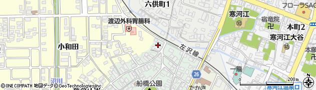 山形県寒河江市船橋町14周辺の地図