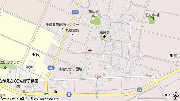 山形県寒河江市日田530周辺の地図