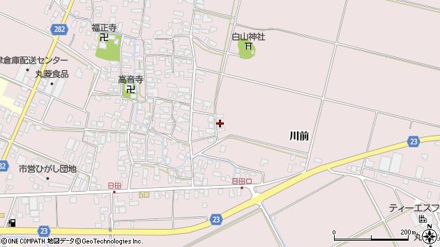 山形県寒河江市日田楯越385周辺の地図