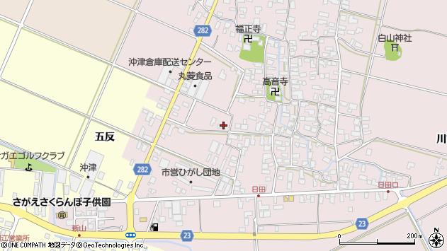 山形県寒河江市日田五反3周辺の地図