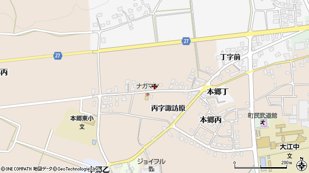 山形県西村山郡大江町本郷丙230周辺の地図