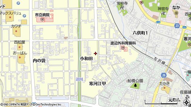 山形県寒河江市寒河江小和田30周辺の地図