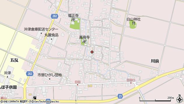 山形県寒河江市日田388周辺の地図