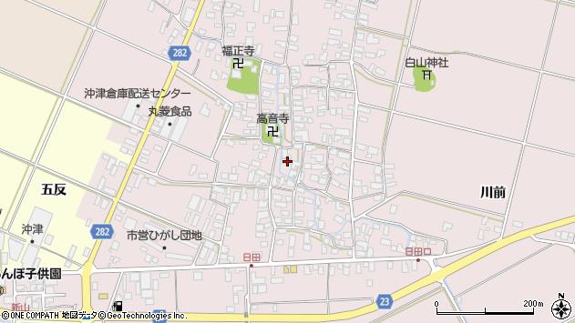 山形県寒河江市日田386周辺の地図
