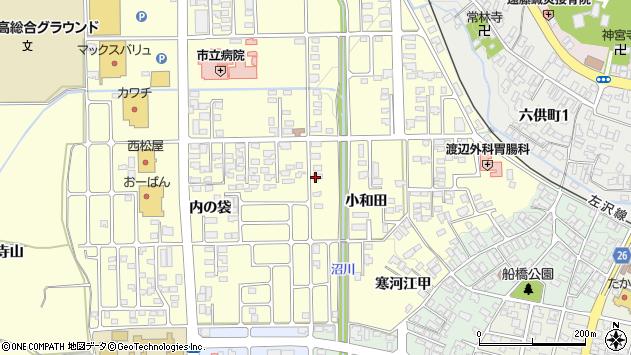 山形県寒河江市寒河江小和田37周辺の地図