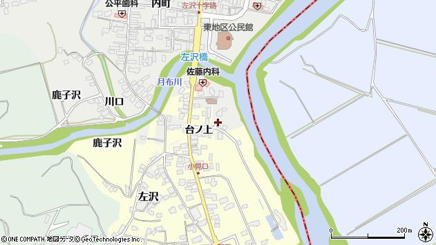 山形県西村山郡大江町左沢台の上周辺の地図